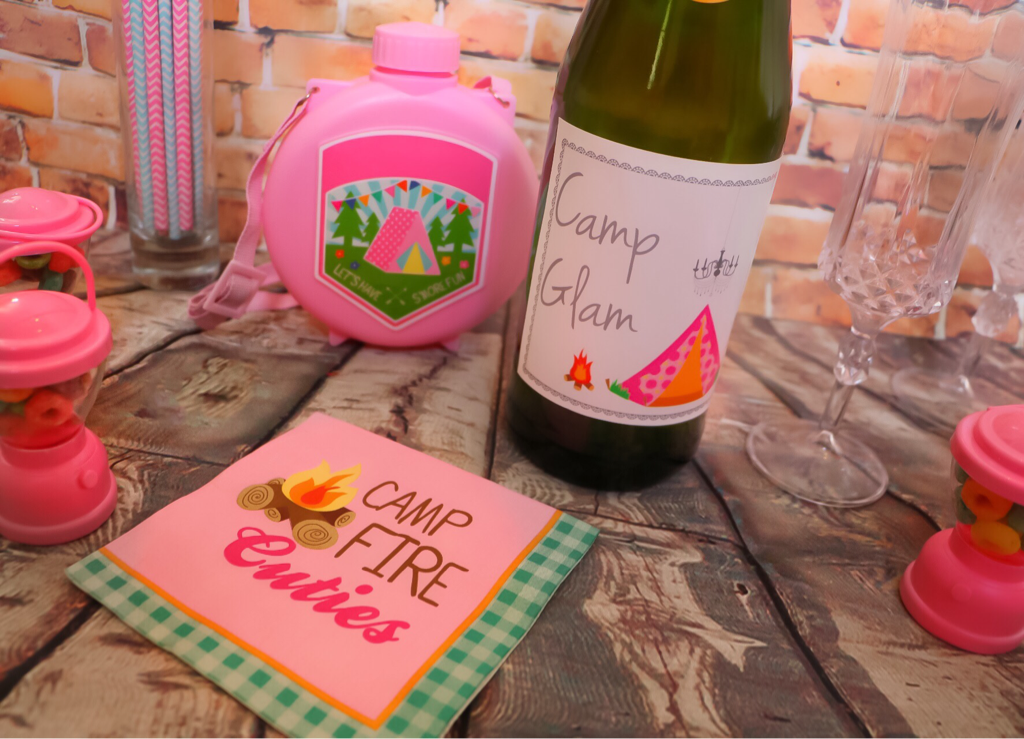 GLAMPING PARTY SPARKLING JUICE PRINTABLE