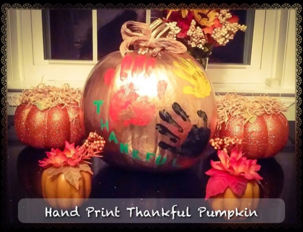 Handprint Thankful Pumpkin