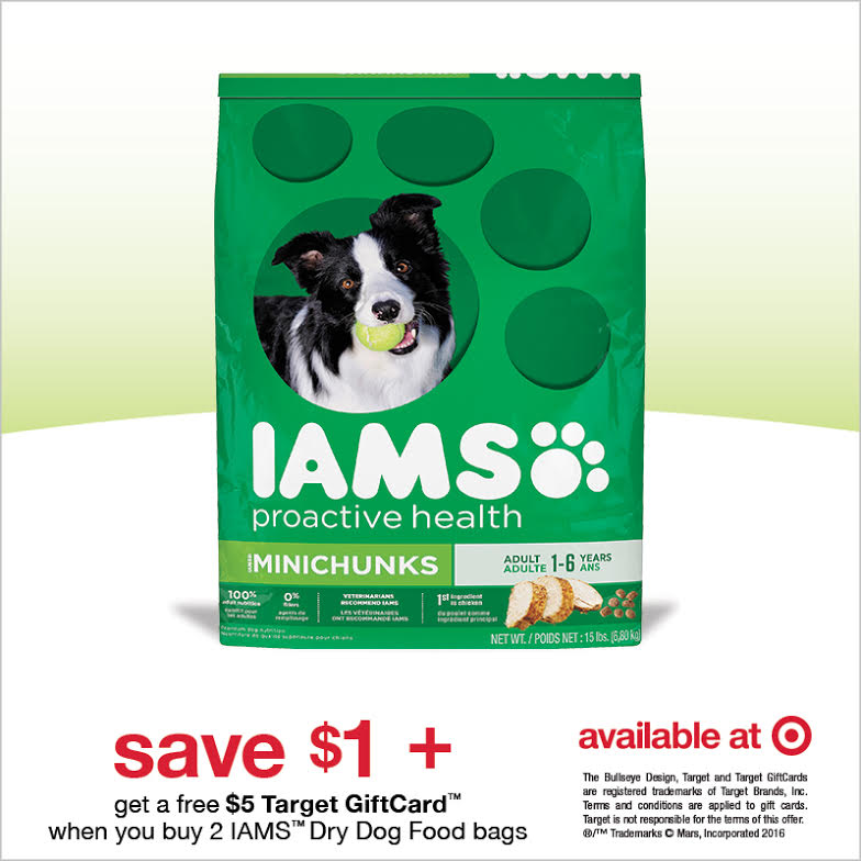 GET A $10 TARGET GIFTCARD WITH THE PURCHASE OF IAMS #IamsDogDeal #Cbias #ad