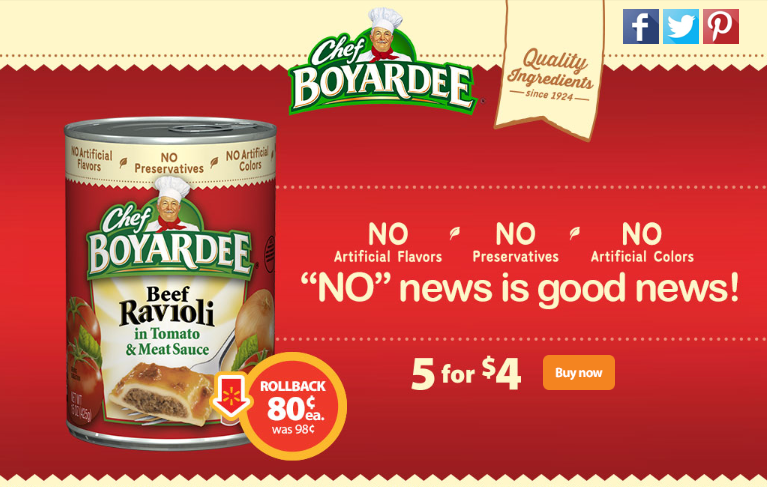 CHEF BOYARDEE ON ROLLBACK AT WALMART #SAVEONCHEF #CBIAS #AD
