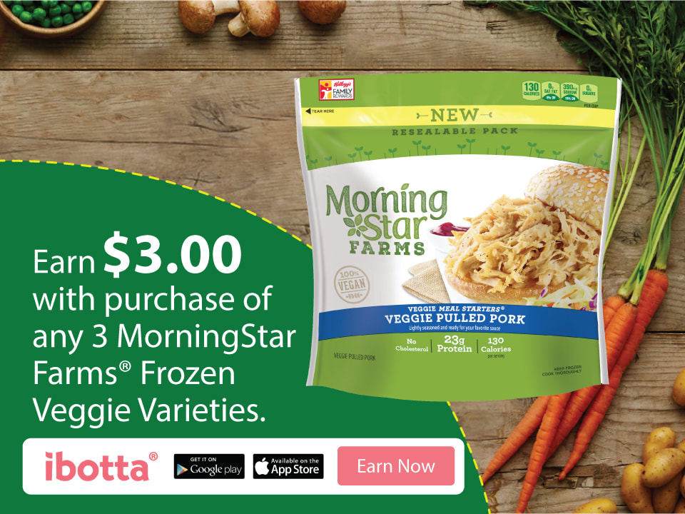 Ibotta offer ~ MorningStar Farms®Frozen Veggie products at Walmart! Earn $3.00!