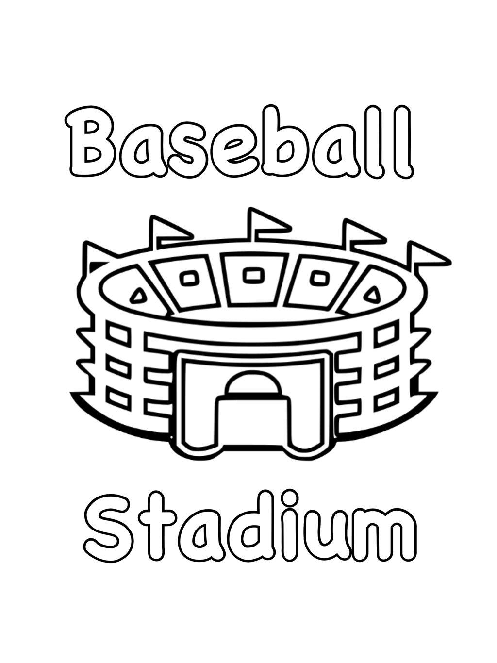 baseball free coloring pages - Free Coloring Pages Baseball 2