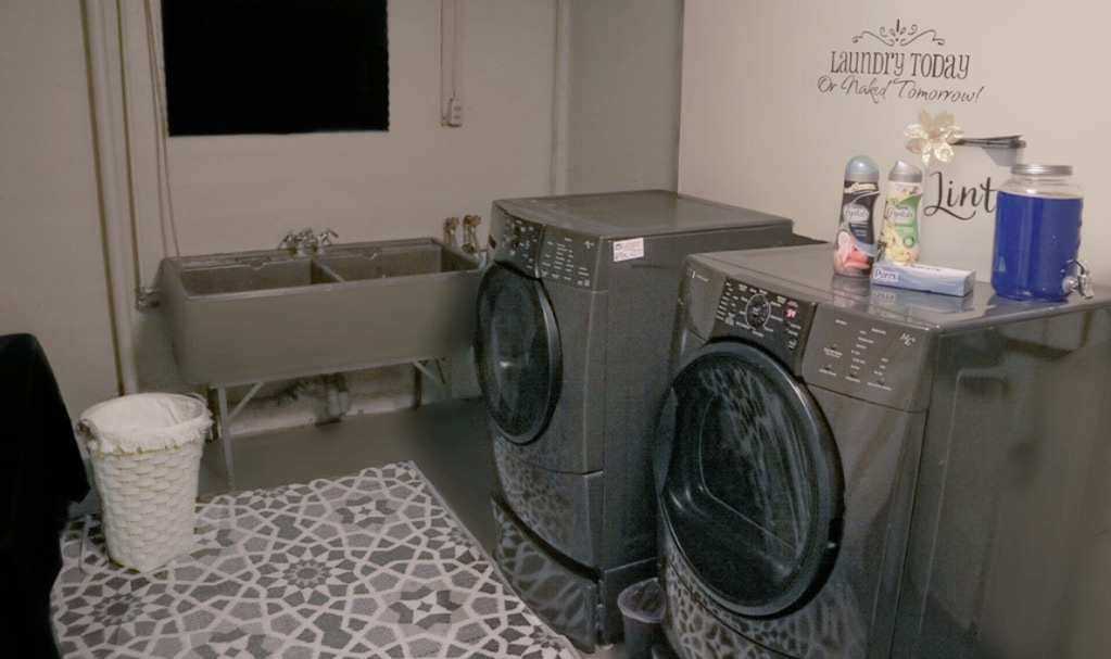 Unfinished Basement Laundry Room Ideas The Trophy Wifestyle