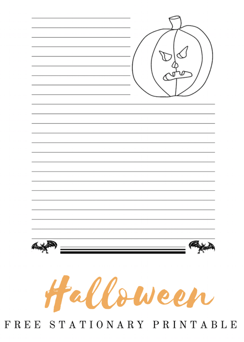 image about Free Stationary Printable identify Halloween Free of charge Stationary Printable - The Trophy WifeStyle