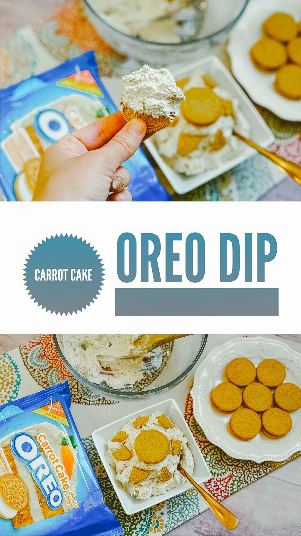 Oreo Carrot Cake Dip The Trophy Wifestyle