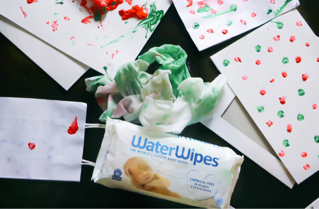 Toddler Dot Paint Wrapping Paper #WaterWipesWalmart #IC #ad