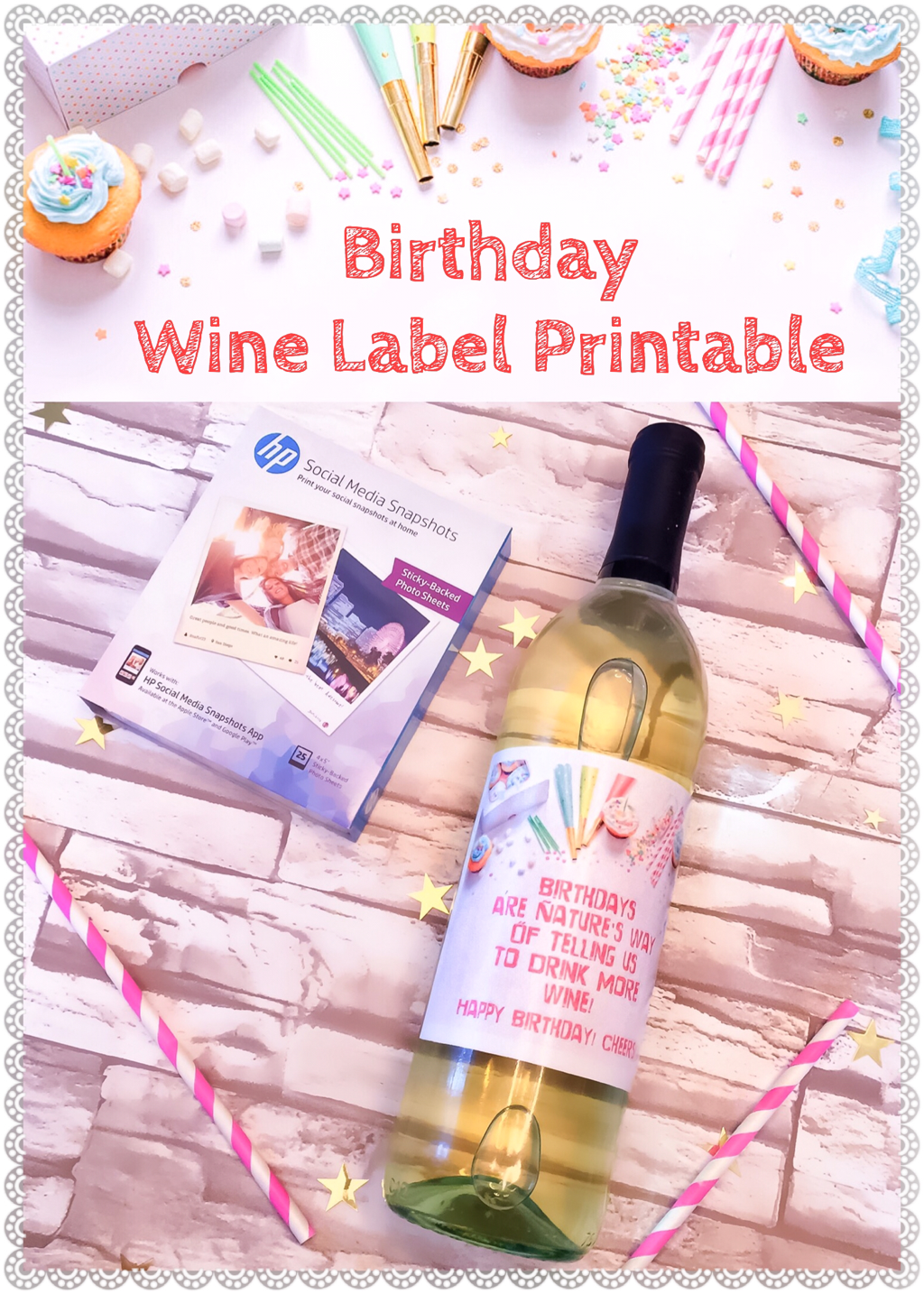 This is an image of Free Printable Birthday Labels pertaining to fillable