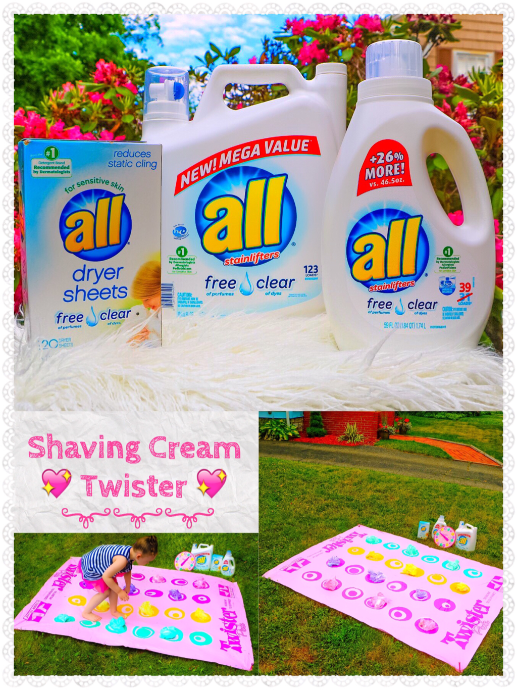 SHAVING CREAM TWISTER & ALL® FREE CLEAR #FreeToBe #CBIAS #AD