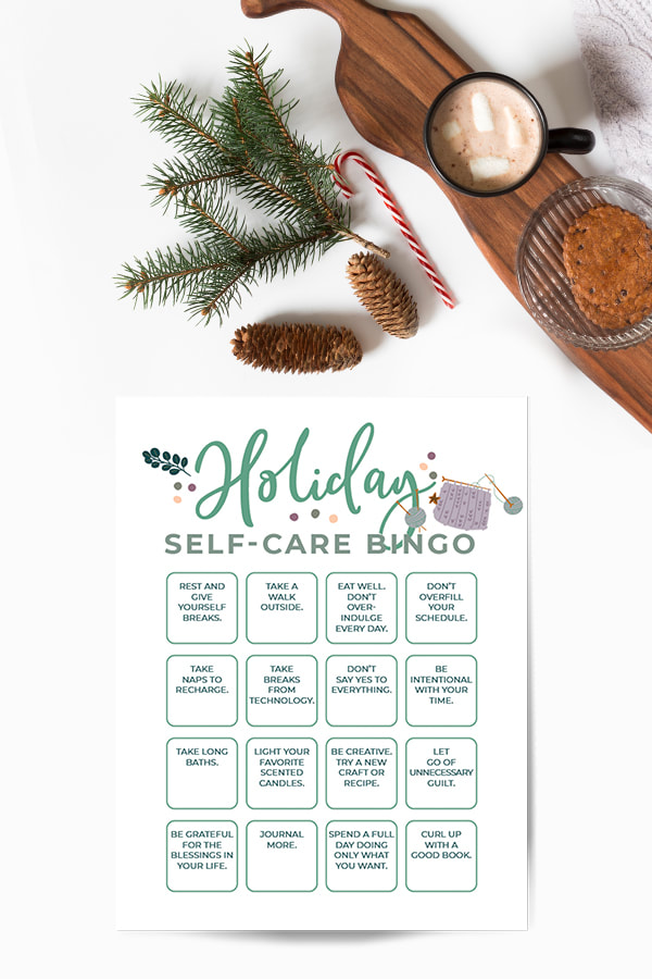 Holiday Self-Care Bingo