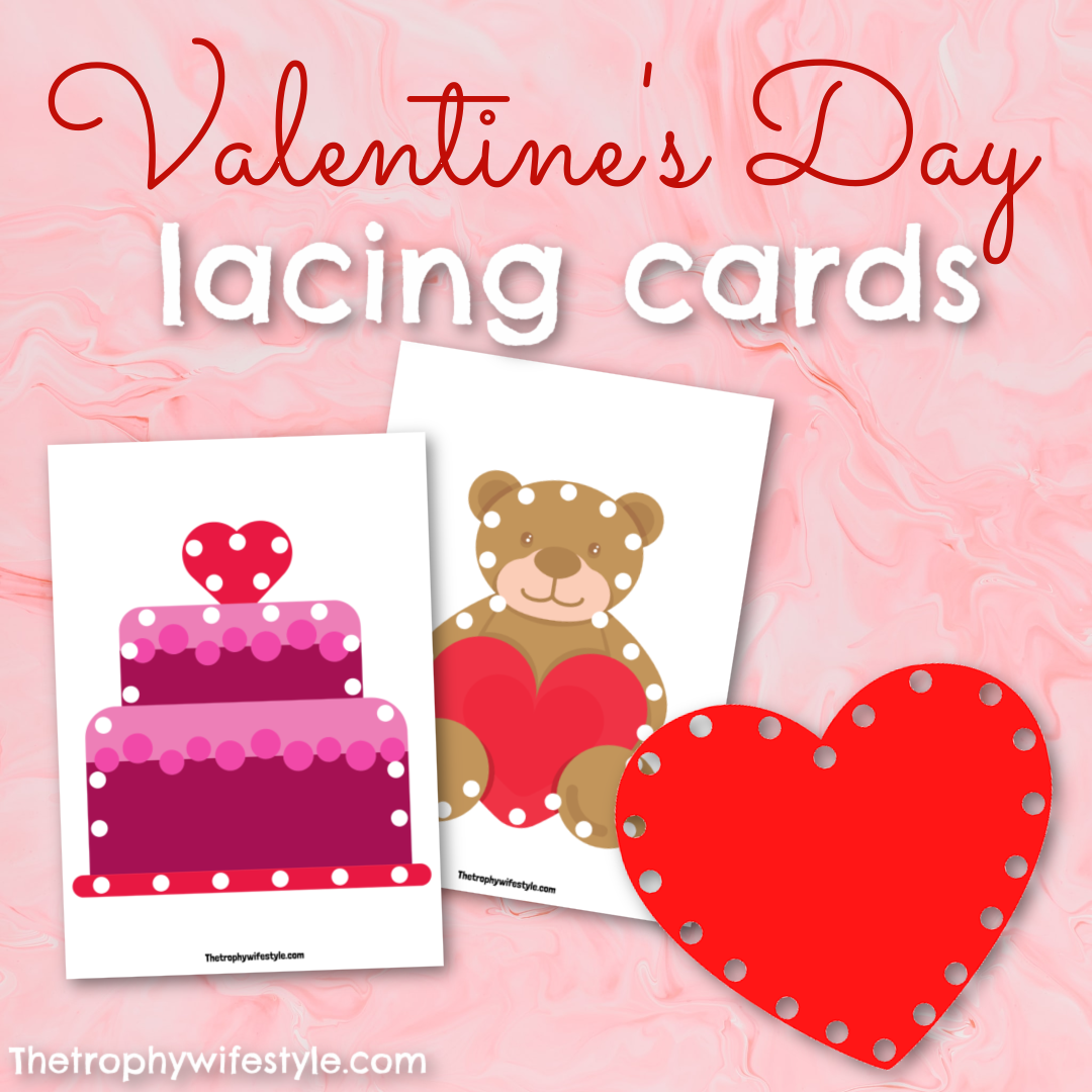 Valentine's Day Lacing Cards