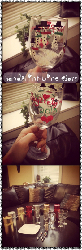 Handprint Wine Glass
