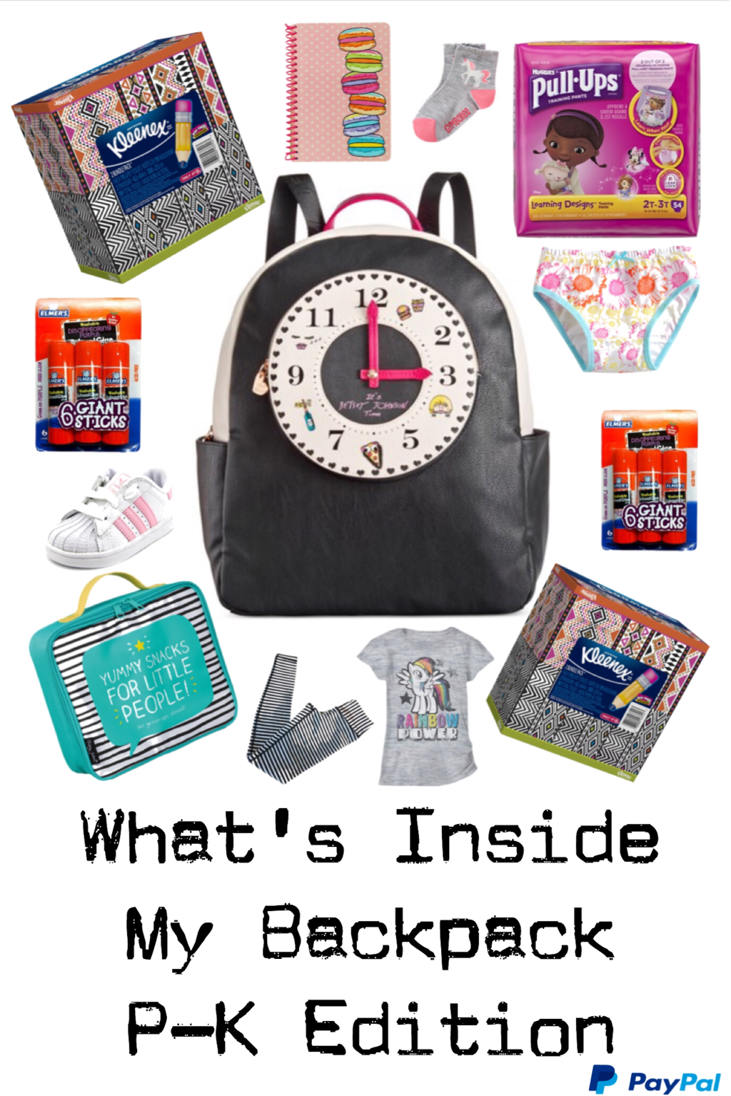 WHAT'S INSIDE MY BACKPACK ~ PRE-K EDITION #PayPalIt #CG #ad