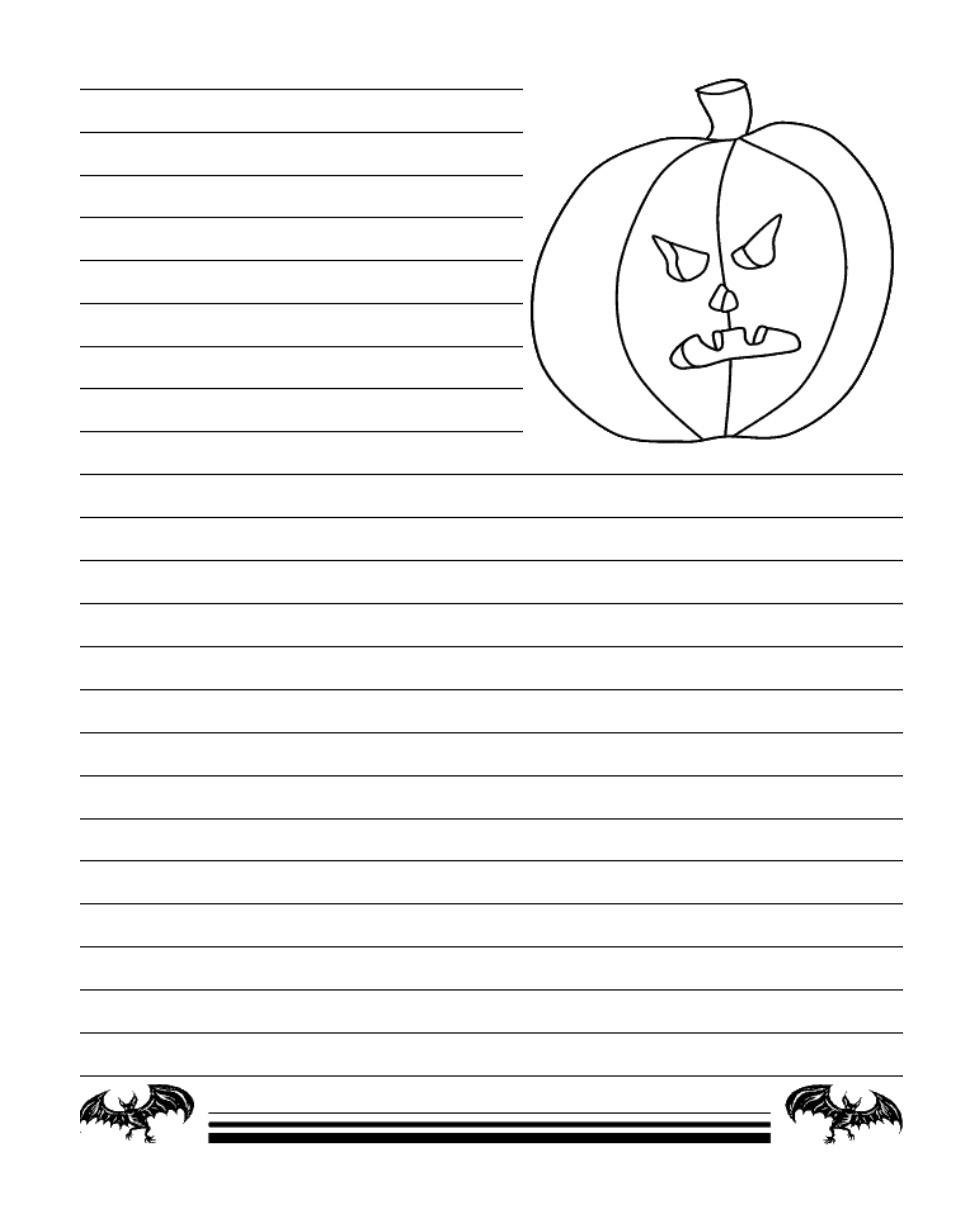 This is an image of Halloween Stationery Printable inside themed stationery
