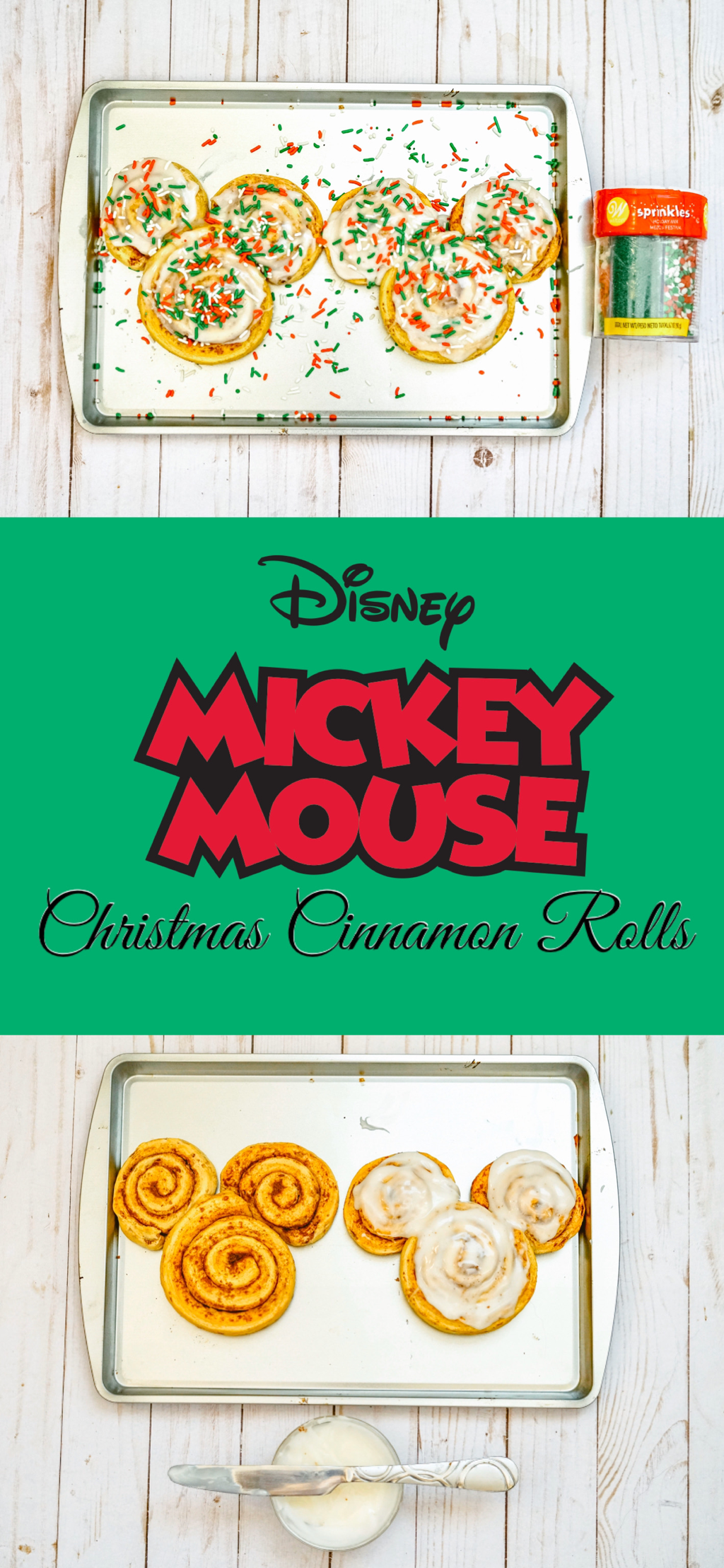 Mickey Mouse Christmas Cinnamon Rolls