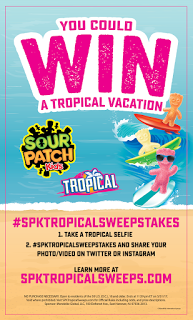 SOUR PATCH Kids Tropical Vacation Sweepstakes – Win a trip for four to Hawaii! #SPKTropicalSweepstakes