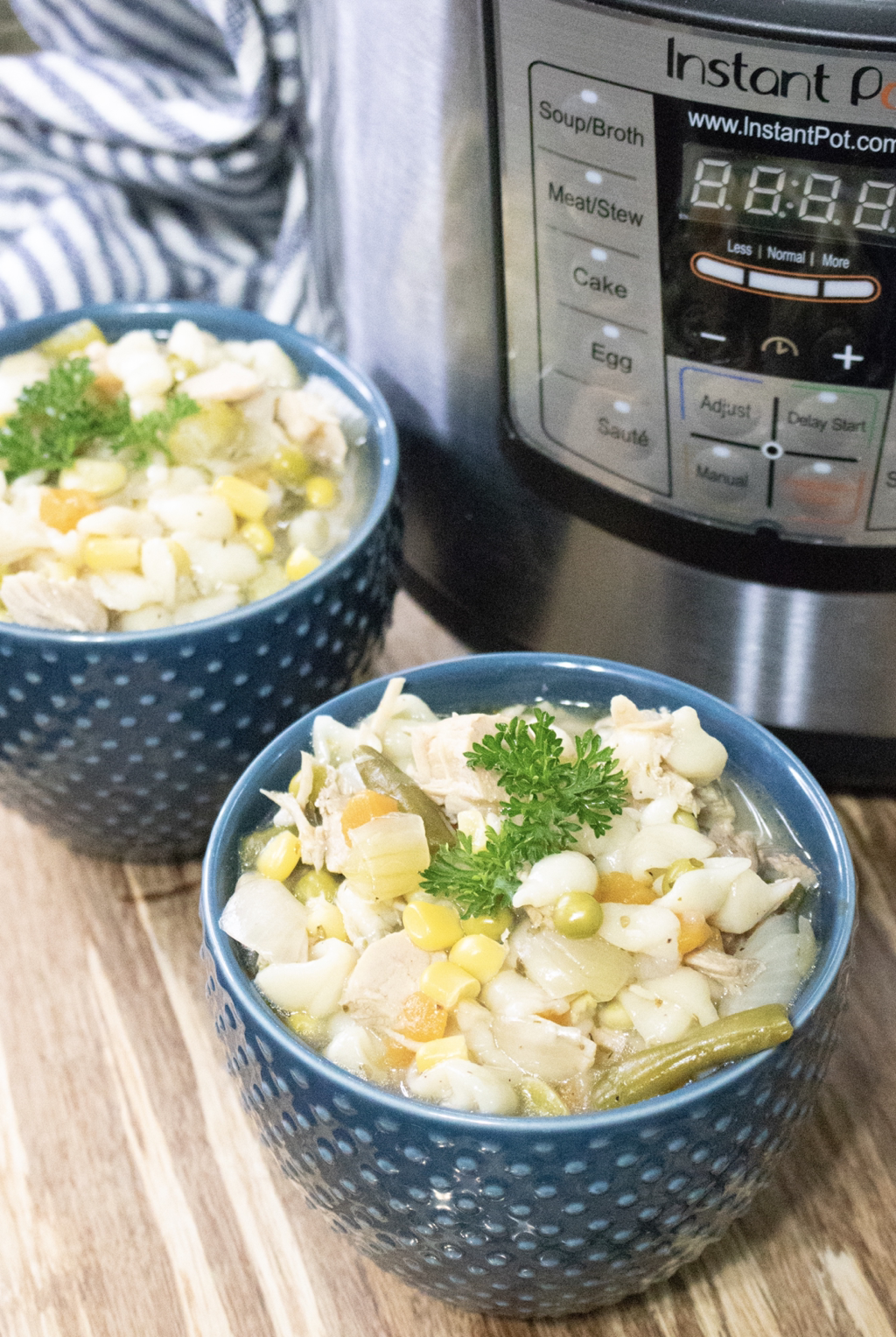 Instant Pot Turkey Noodle  Soup