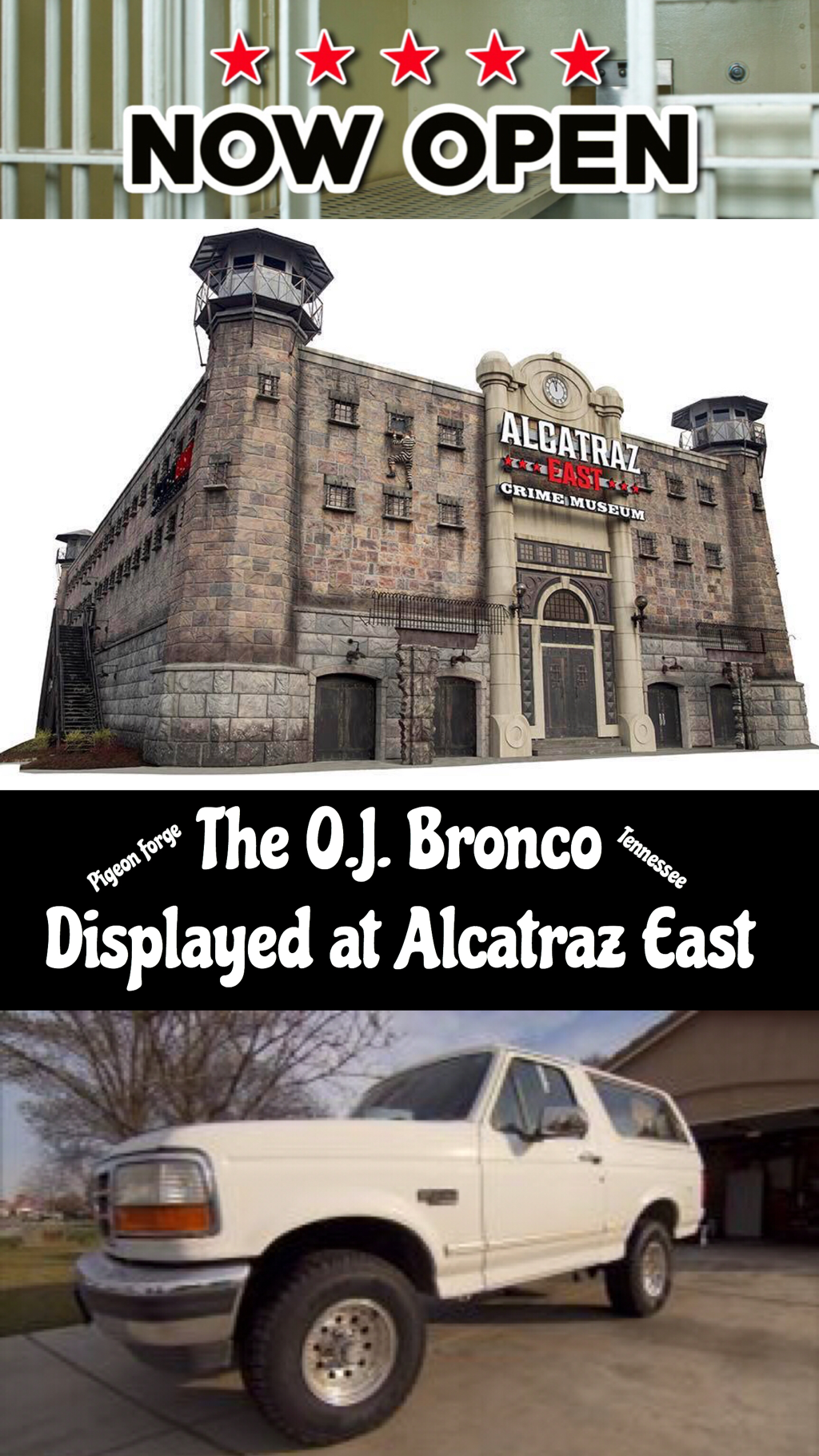 The O.J. Bronco Displayed at Alcatraz East