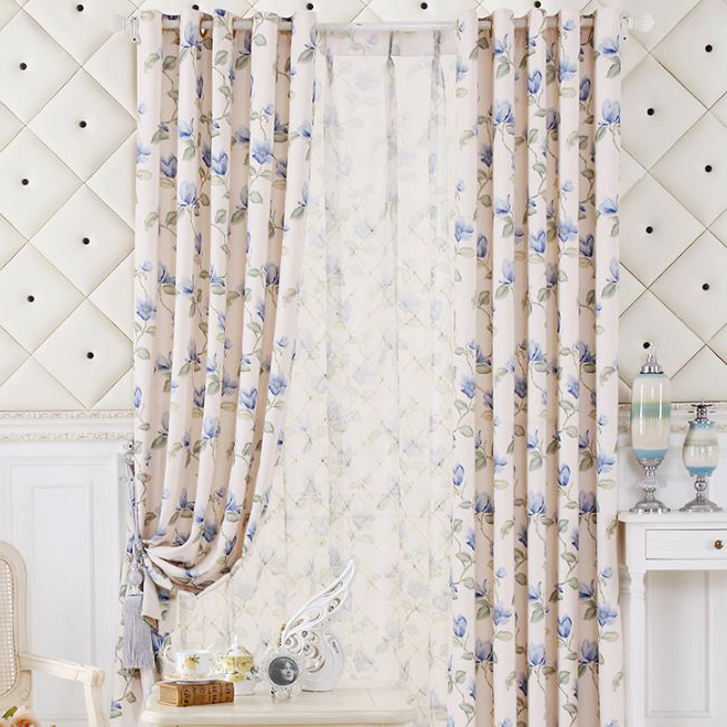 Blue Floral Curtains & Other Blue Items Your Home Needs!