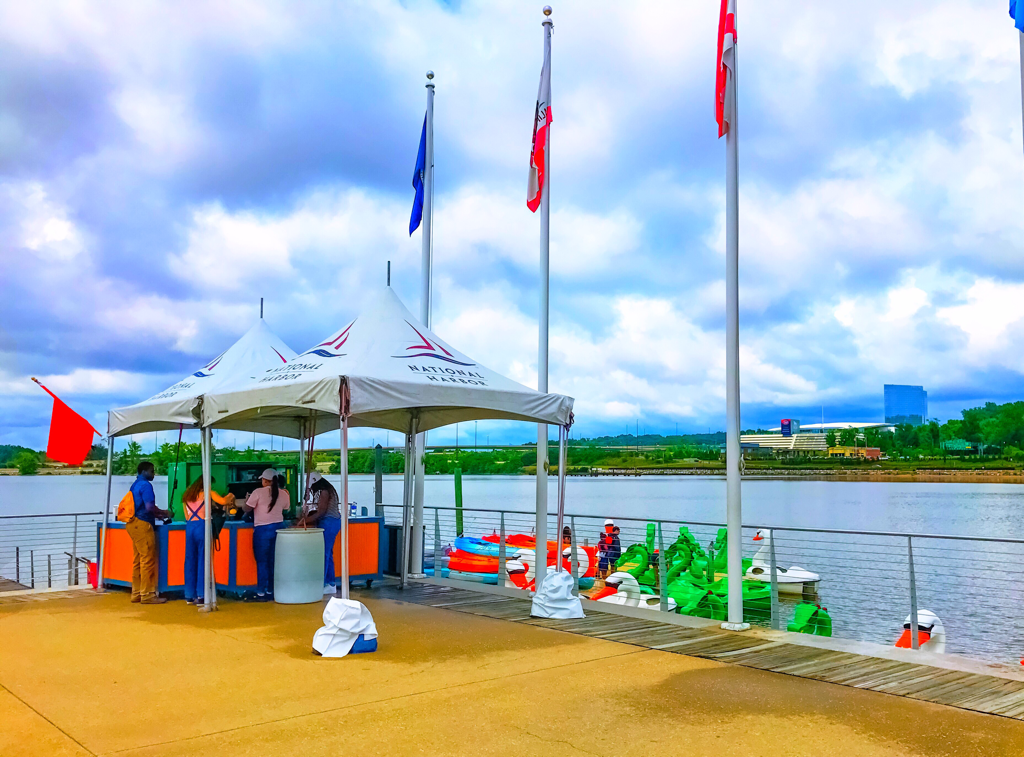 Boating in DC, National Harbor, Pedal Boat Rentals