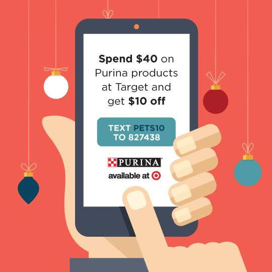 PURINA HOLIDAY TEXT OFFER @ TARGET #Txt4Pet #CollectiveBias #ad