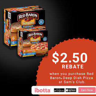 Buy Red Baron® Deep Dish Pizzas at Sam's Club, Earn $2.50!