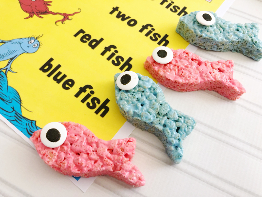 One fish two fish rice krispie treats