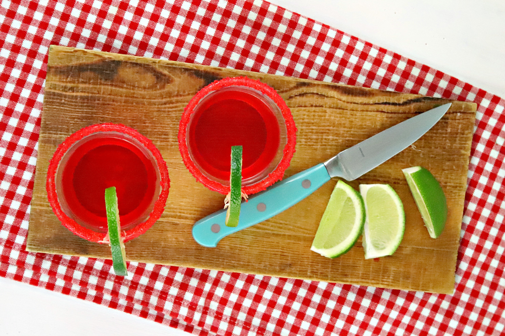 Sour Cherry Margarita Jello Shots