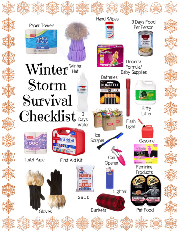 Winter Storm Survival Checklist