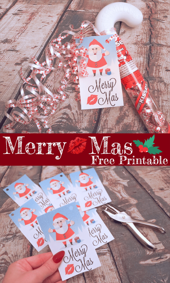 MERRY Kiss-MAS FREE PRINTABLE ~ TEACHER GIFT