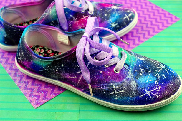 DIY Galaxy Shoes