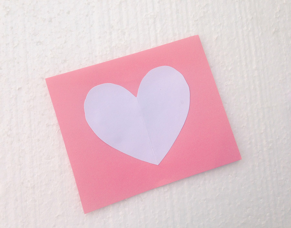 Heart Filled Heart Card Valentine's Day Kids Craft